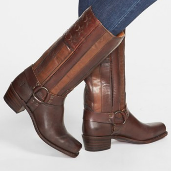 Frye Shoes - FRYE TALL Americana Leather Riding Boots SZ 7